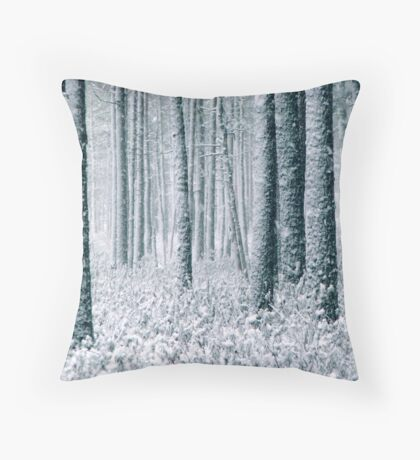 9.12.2011: In the Freezing Forest II Throw Pillow