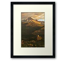 Sneffels mountains at Sunset Framed Print