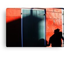 Man and Hat Canvas Print