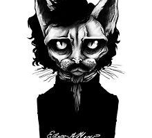 Edgar Allan Meow by karincoma