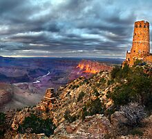 Sunset Indian Watchtower, Grand Canyon by Jennifer Bailey