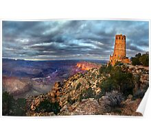 Sunset Indian Watchtower, Grand Canyon Poster