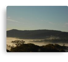 Morning Fog Layer Canvas Print