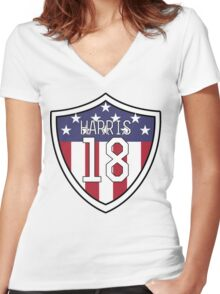 Ashlyn Harris #18 | USWNT Women's Fitted V-Neck T-Shirt
