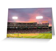 Red Sox Baseball game in Boston Greeting Card
