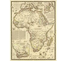 Vintage Map of Africa (1828) Photographic Print