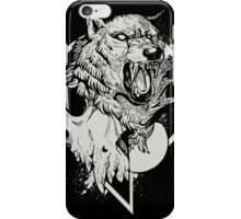 Inktober Wolf  iPhone Case/Skin