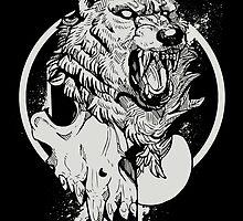 Inktober Wolf  by WOLFSKULLJACK