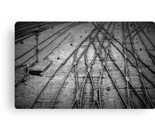 Crossed Lines Canvas Print