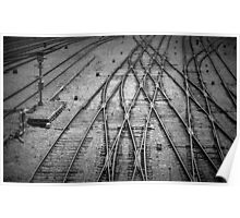 Crossed Lines Poster