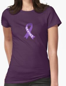 Crohn's Awareness Ribbon Womens Fitted T-Shirt