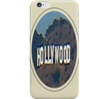 Hollywood Sign in frame iPhone Case/Skin