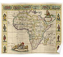 Vintage Map of Africa (1660) Poster