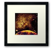 Meanwhile, in another part of the galaxy . . .  Framed Print