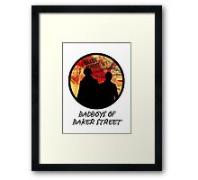 Bad Boys of Baker Street Modern Edition (Black) Framed Print
