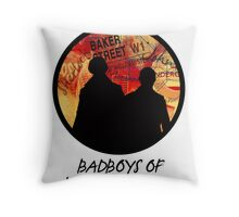 Bad Boys of Baker Street Modern Edition (Black) Throw Pillow
