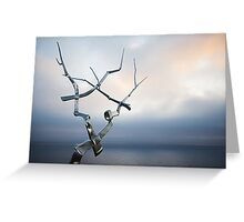 Steel Dawn Greeting Card