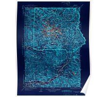 USGS Topo Map Washington State WA Mt Rainier 242672 1928 125000 Inverted Poster