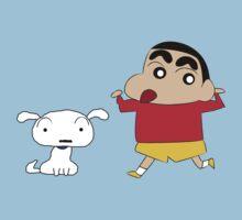 Shin-chan & Shiro One Piece - Short Sleeve