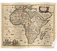 Vintage Map of Africa (1689) Poster