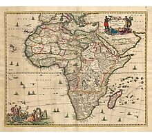 Vintage Map of Africa (1689) Photographic Print