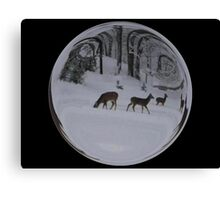 Cindy's Snow Globe's 8 Canvas Print