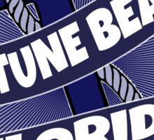 Neptune Beach Florida anchor swirl Sticker