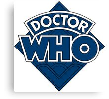 Doctor Who Diamond Logo Flat Blue. Canvas Print