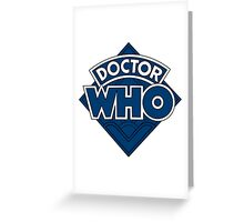 Doctor Who Diamond Logo Flat Blue. Greeting Card