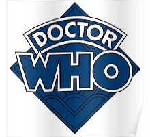 Doctor Who Diamond Logo Flat Blue. Poster