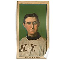 Benjamin K Edwards Collection Hooks Wiltse New York Giants baseball card portrait 003 Poster