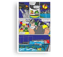 """Rick the chick  """"THE MAGIC SHELL (la grande metropoli) parte 39"""" Canvas Print"""