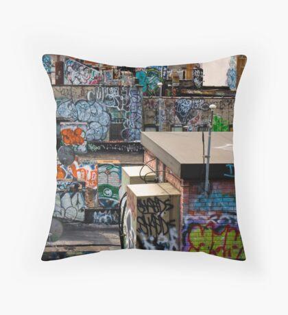 Alphabet city Throw Pillow