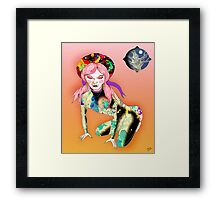 Cowgirl in the Sand Framed Print