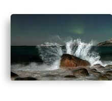 Aurora Borealis with a splash Canvas Print