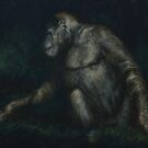Curious - Gorilla Pastel Painting by Sue Deutscher