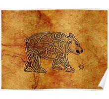 Knotwork Bear Natural Poster