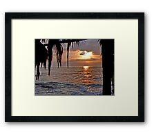 The Sun going down in California Framed Print