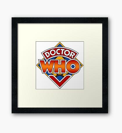 Classic Doctor Who Diamond Logo. Framed Print