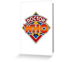 Classic Doctor Who Diamond Logo. Greeting Card