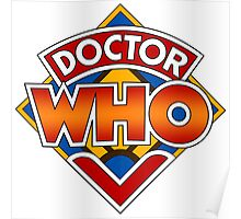 Classic Doctor Who Diamond Logo. Poster