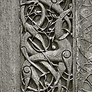 """Viking Age  typical animal-ornamentation, the so called """"Urnes style"""" of animal-art. Urnes Stave Church (Norwegian: Urnes stavkirke).   North portal deatail. by Brown Sugar. Views (186) Favs (2)  Thx! by © Andrzej Goszcz,M.D. Ph.D"""