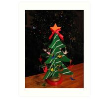 Origami Christmas Tree Art Print