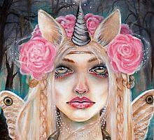 Unicorn Queen w Golden Eyes by KimTurner