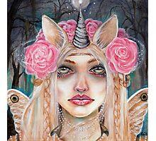 Unicorn Queen w Golden Eyes Photographic Print