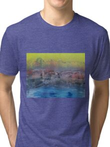 Cold mist at mountain lake Tri-blend T-Shirt