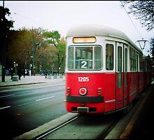 The tram in Vienna, Austria by MickP