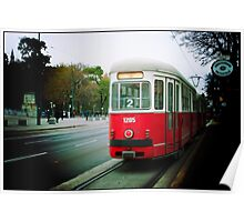 The tram in Vienna, Austria Poster