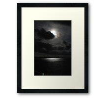 Full Moon Over Point Danger Framed Print