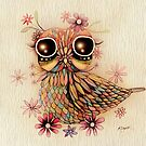 little flower owl by © Karin (Cassidy) Taylor
